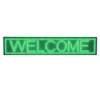 Reclama luminoasa de exterior, 200 x 40 cm, LED, text personalizat, senzor temperatura, Verde