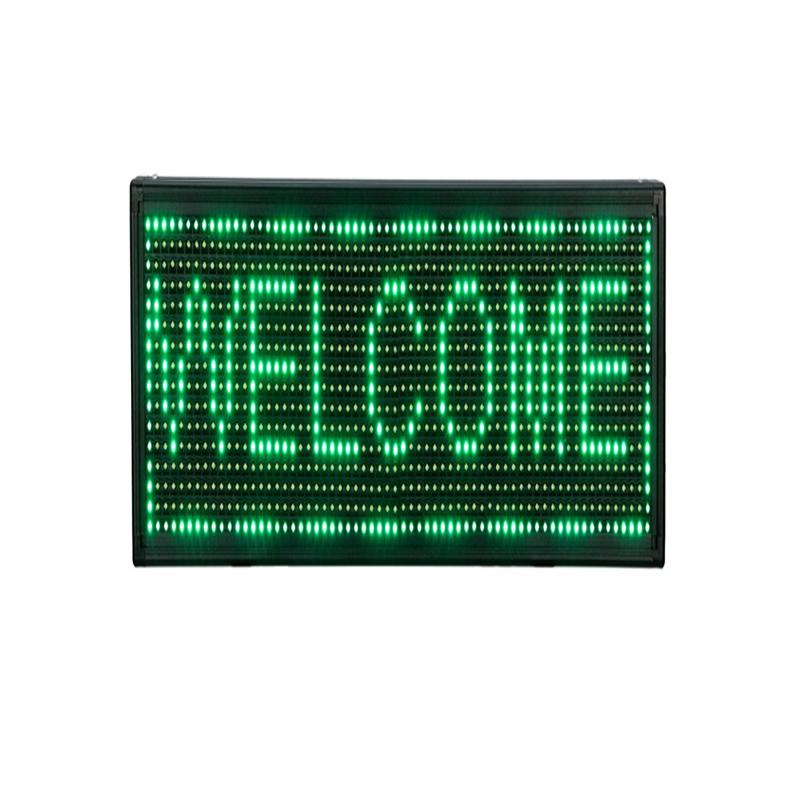 Reclama luminoasa de interior, 34 x 34 cm, LED, text personalizat, Verde 2021 shopu.ro