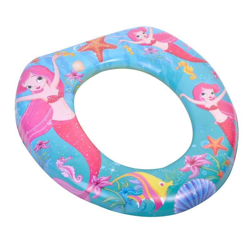 Reductor toaleta pentru copii, 28 x 28 cm, imprimeu sirena 2021 shopu.ro