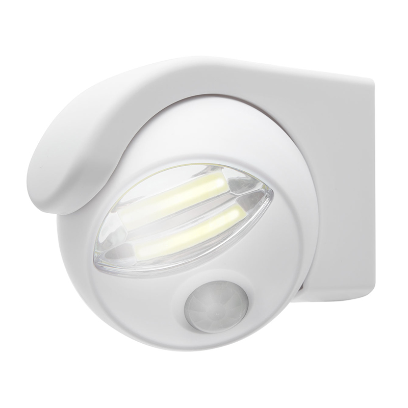 Reflector COB-LED Phenom, 3 x AA, 120 lm, raza actiune 5 m, senzor miscare/lumina, Alb 2021 shopu.ro