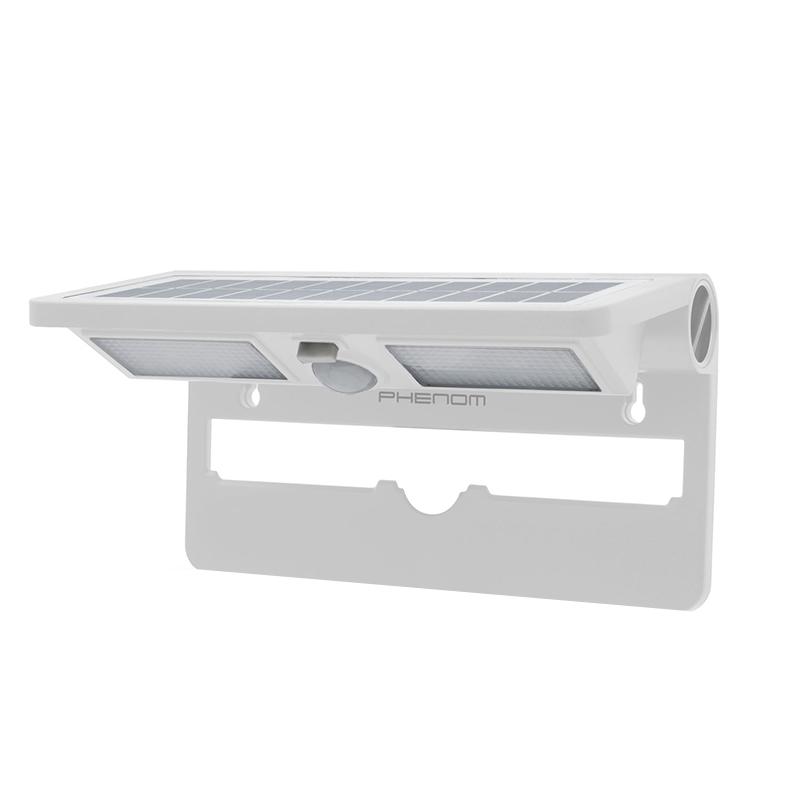 Reflector solar cu LED Phenom, 120 lm, 24 LED, raza actiune 8 m, senzor miscare/lumina, 3 functii, Alb 2021 shopu.ro