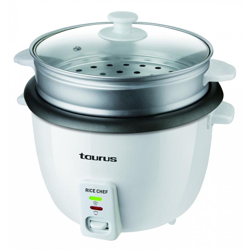 Aparat de gatit orez Rice Chef Taurus, 700 W, 1.8 l, functie abur