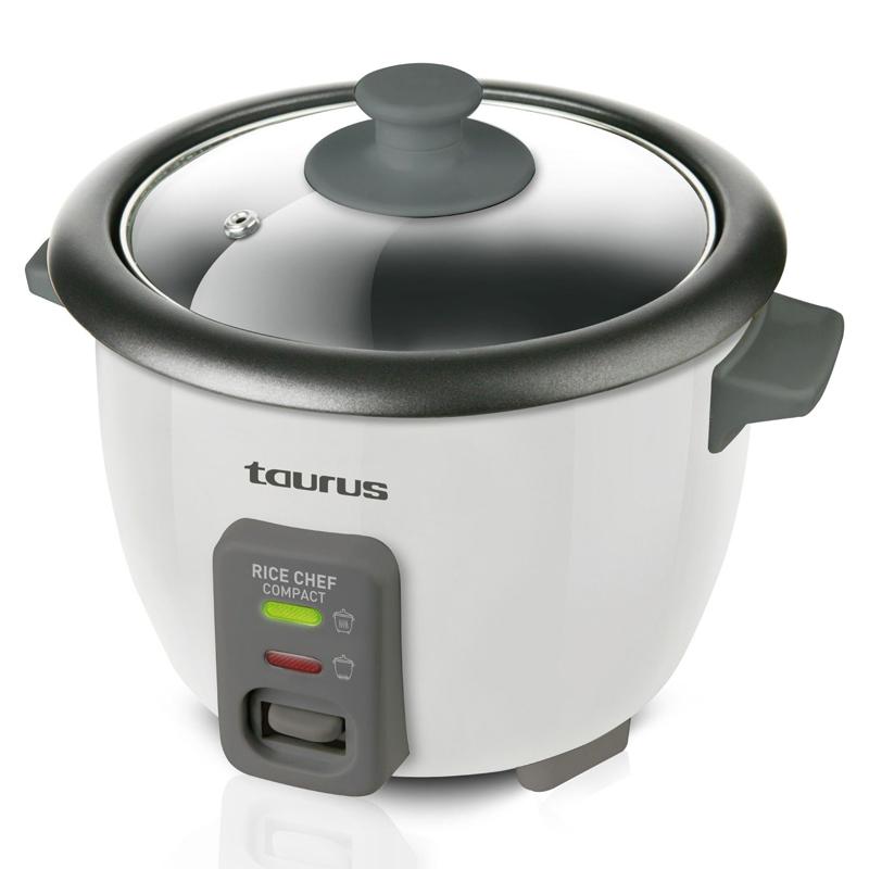 Aparat gatit orez Rice Chef Compact Taurus, 300 W, 0.6 l, functie abur