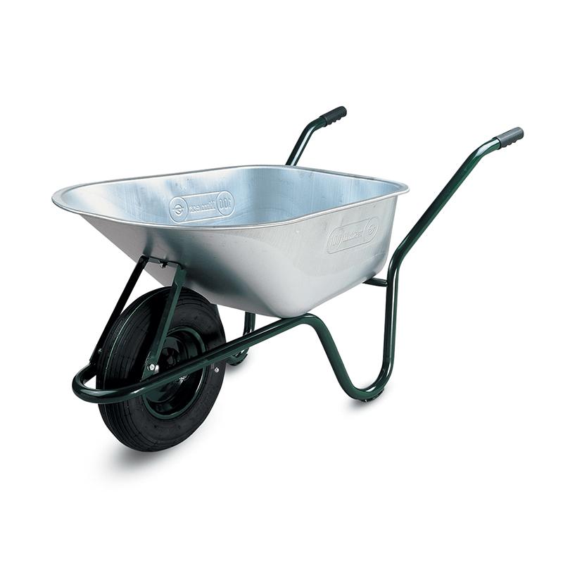 Roaba galvanizata Limex, 85 l, tabla zincata, roata pneumatica, Argintiu 2021 shopu.ro