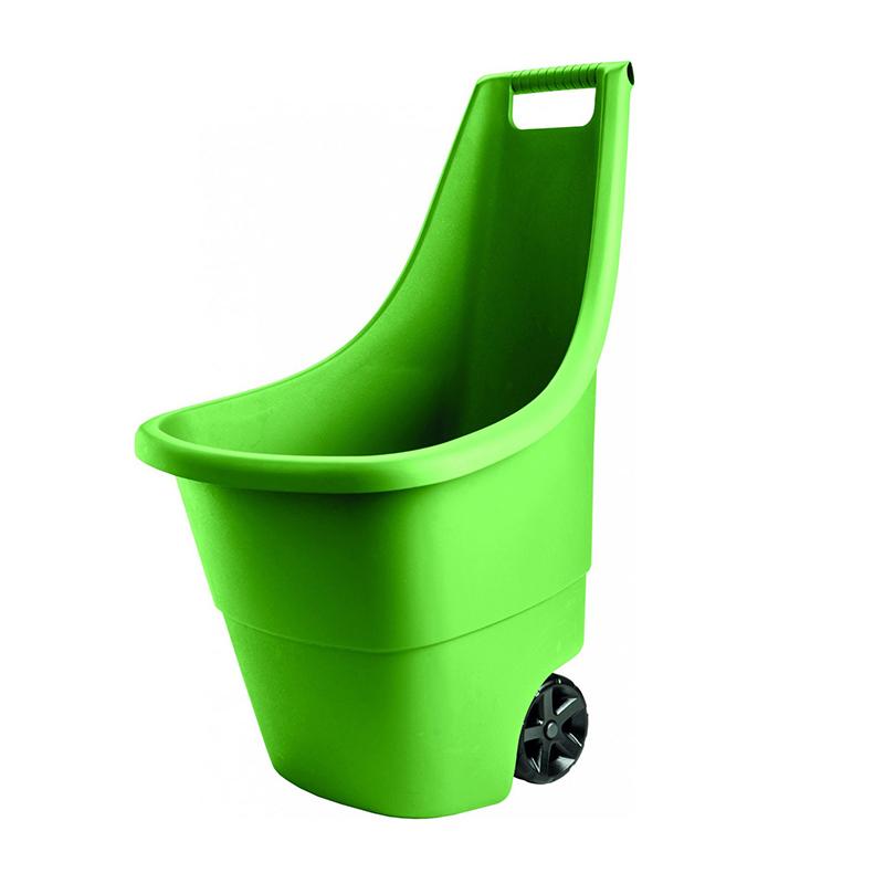 Roaba multifunctionala Curver Easy Go Breeze, 51 x 56 x 84 cm, 50 l, cuva polipropilena, Verde 2021 shopu.ro