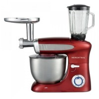 Robot bucatarie multifunctional 3 in 1 Herenthal, 1900 W, 6.5 l, indicator LED, 6 viteze, functie Pulse, Rosu