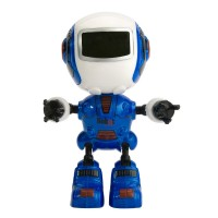 Robot cu sunete si lumini Die Cast, inaltime 11 cm, 3 ani+
