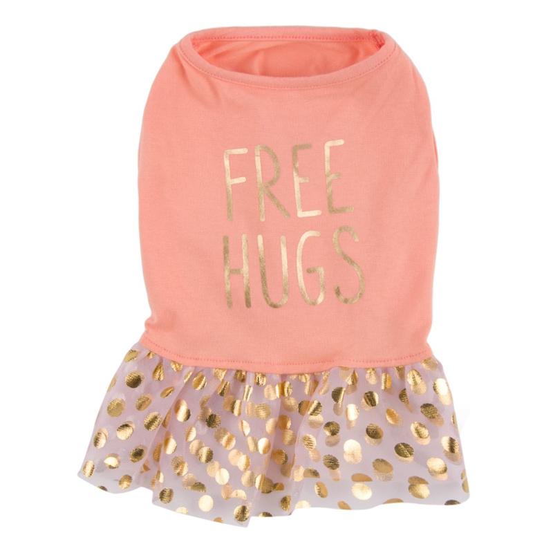Rochita pentru catei Free Hugs, marimea XL 2021 shopu.ro