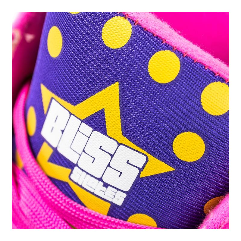 Role Bliss Dots Pegas, marimea 32, roti 58 x 32 mm, poliuretan, ABEC 7, 4 roti, Mov