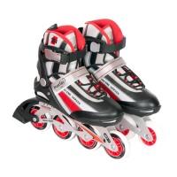 Role racing Maxtar, marimea 41, plastic/PVC, roti poliuretan, Rosu/Negru