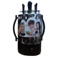 Rotisor electric vertical Boxiya, 1350 W, 6 frigarui