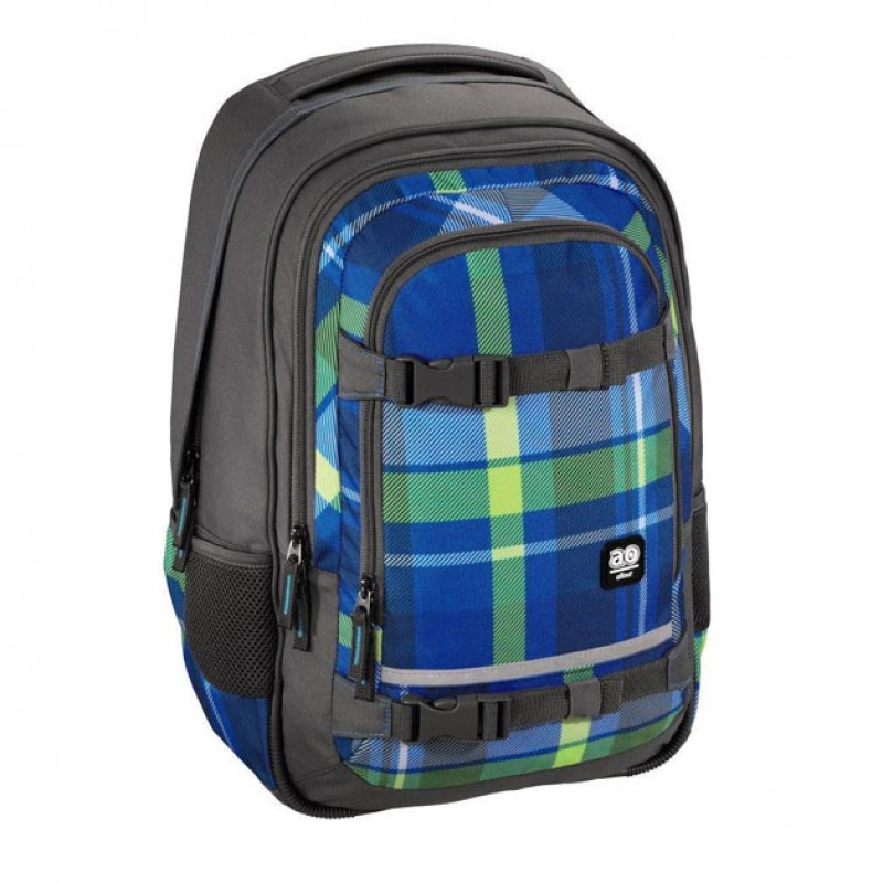 Rucsac All Out Selby, material poliester, model Woody Blue 2021 shopu.ro