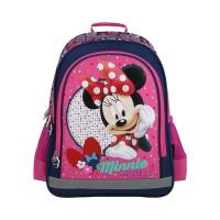 Rucsac Minnie Mouse Lamonza, inaltime 39 cm, spate buretat, roz