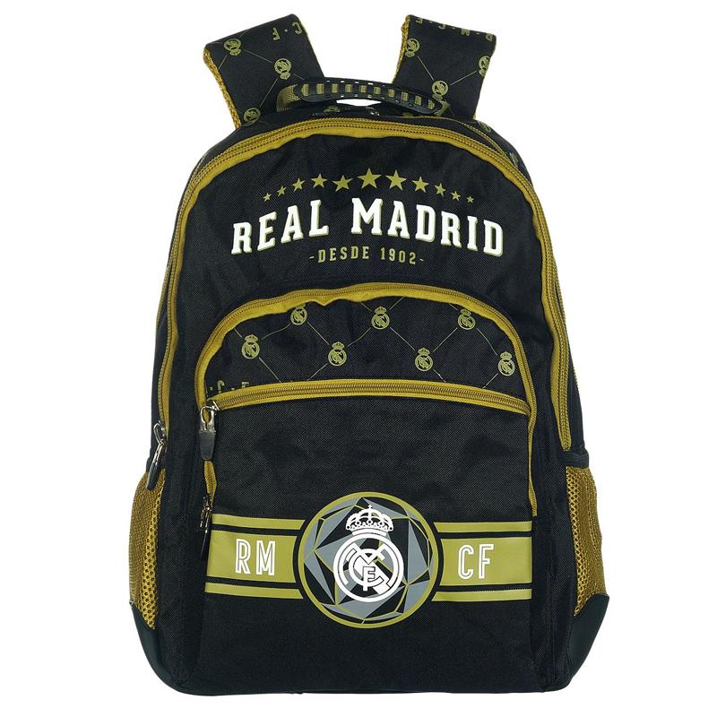 Rucsac Real Madrid, 45 cm, Negru/Galben 2021 shopu.ro