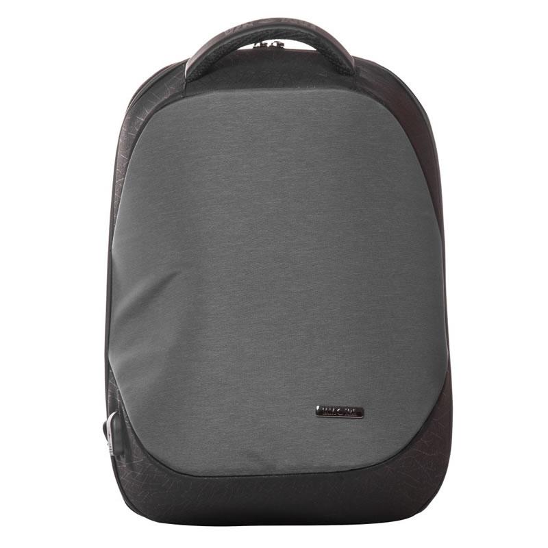 Rucsac laptop Lamonza Anchor, port USB si cablu inclus, gri 2021 shopu.ro