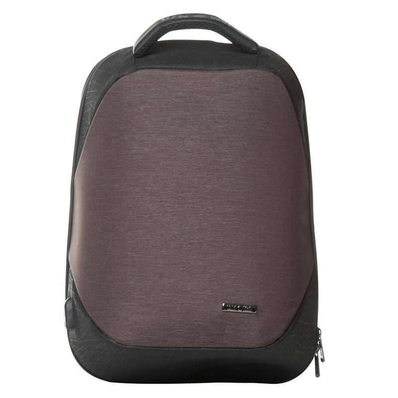 Rucsac laptop Lamonza Anchor, port USB si cablu inclus, maro