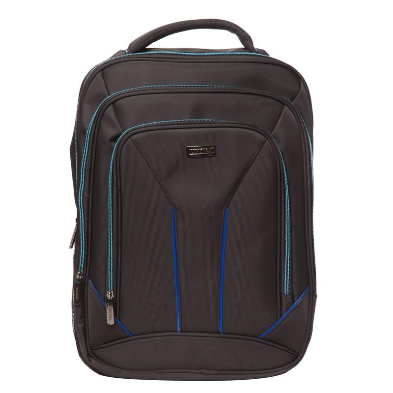 Rucsac laptop Toledo Lamonza, 42 x 31 cm, Negru/Albastru 2021 shopu.ro