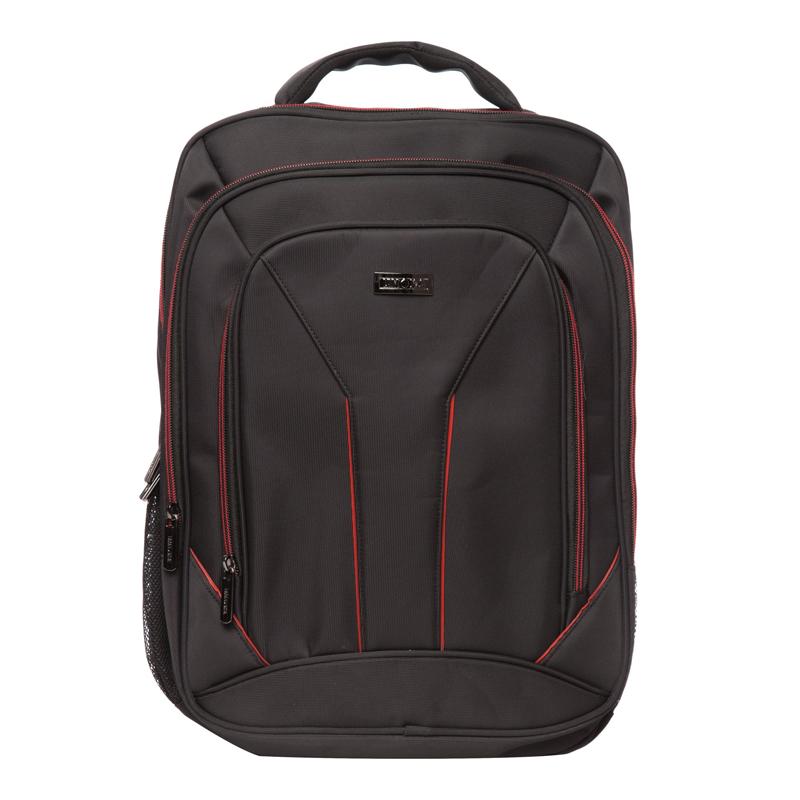Rucsac laptop Toledo Lamonza, 42 x 31 cm, Negru/Rosu 2021 shopu.ro
