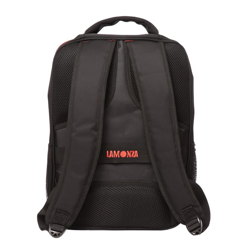Rucsac laptop Toledo Lamonza, 42 x 31 cm, Negru/Rosu