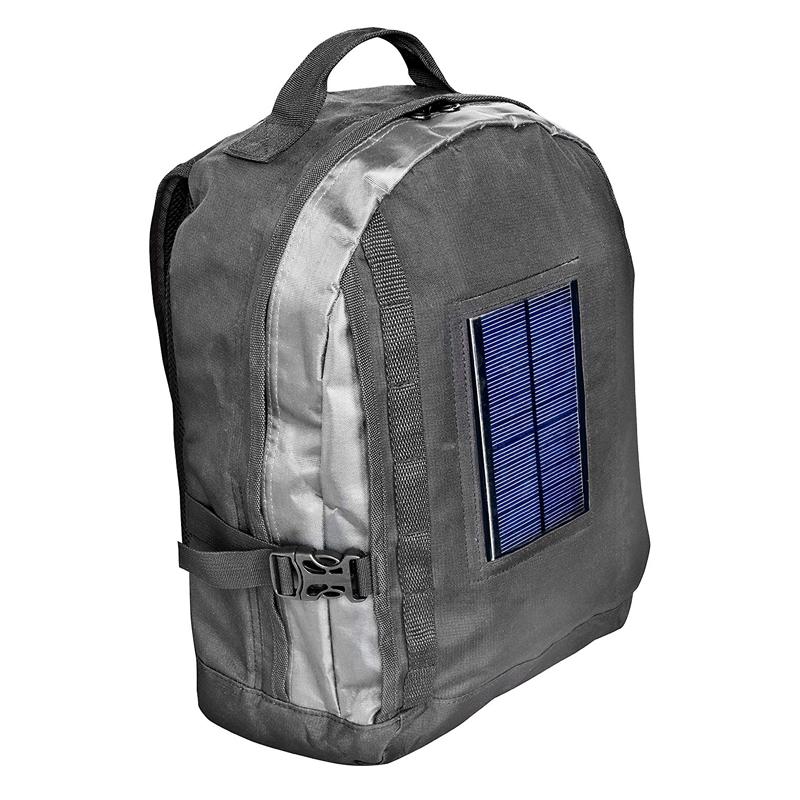 Rucsac pentru laptop cu incarcator solar Bresser, baterie 1800 mAh, geanta transport 2021 shopu.ro