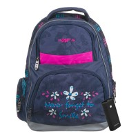 Rucsac scoala Never Forget to Smile 15NF36, 39 x 16 x 48 cm, baterie externa inclusa
