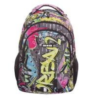 Rucsac scolar Lamonza Vivid, 45 x 31 x 16 cm, ergonomic, multicolor