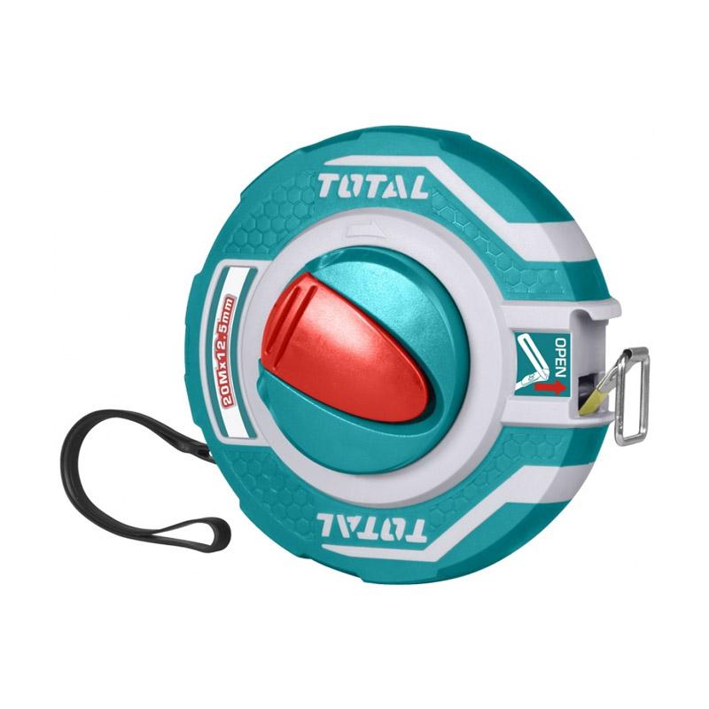 Ruleta Total, lungime 20 m, diametru 12.5 mm, capat cauciuc, Verde 2021 shopu.ro