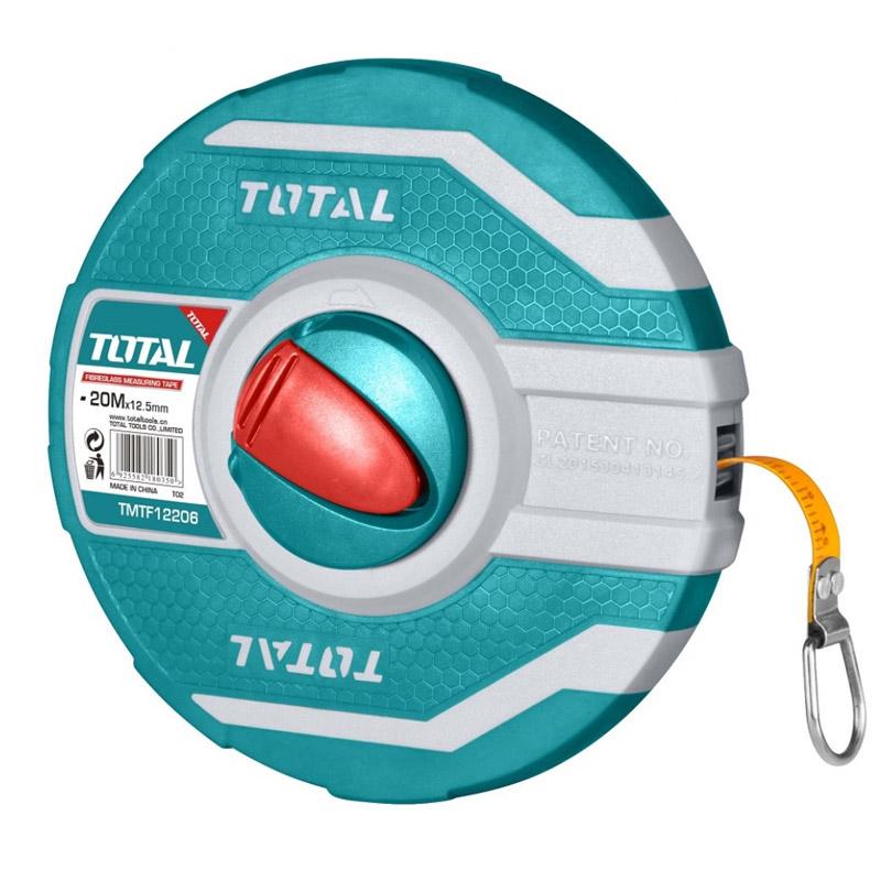 Ruleta Total, lungime 30 m, diametru 12.5 mm, carcasa fibra de sticla, Verde shopu.ro