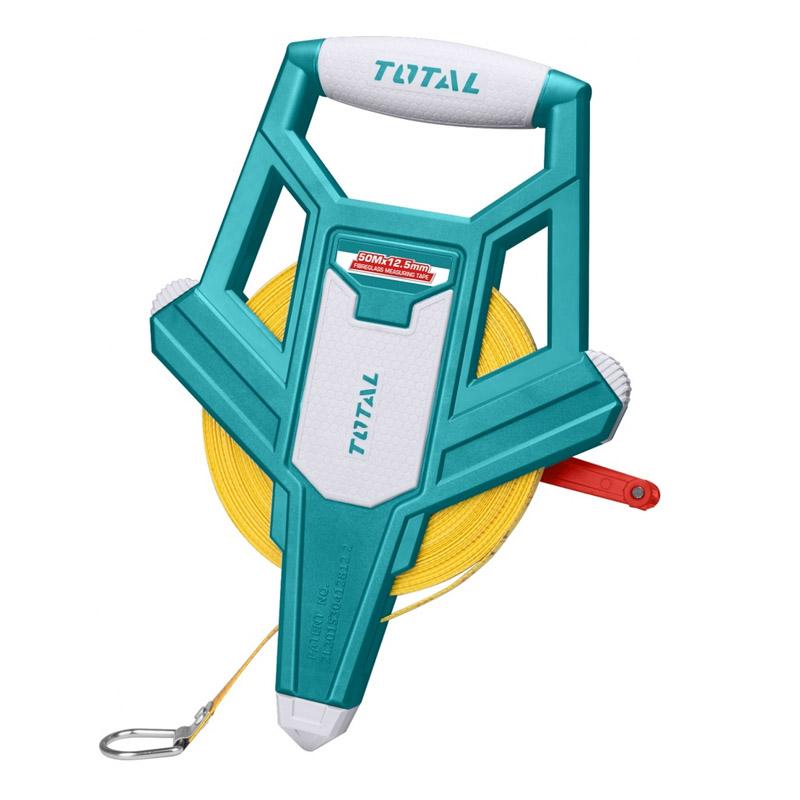 Ruleta Total, lungime 50 m, diametru 12.5 mm, carcasa fibra de sticla, Verde 2021 shopu.ro