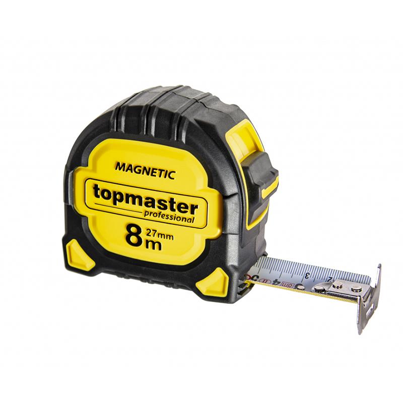 Ruleta magnetica Top Master, 8 m x 27 mm 2021 shopu.ro