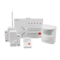 Sistem de alarma wireless Konig, 3 coduri, 10 senzori