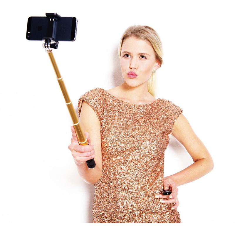 Monopod reglabil pentru selfie Rollei, bluetooth, Auriu