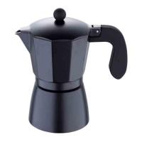 Infuzor pentru cafea Bergner, 9 cesti, aluminiu negru