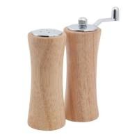 Set 2 solnite din lemn Smakfest SM-673004, rasnita piper