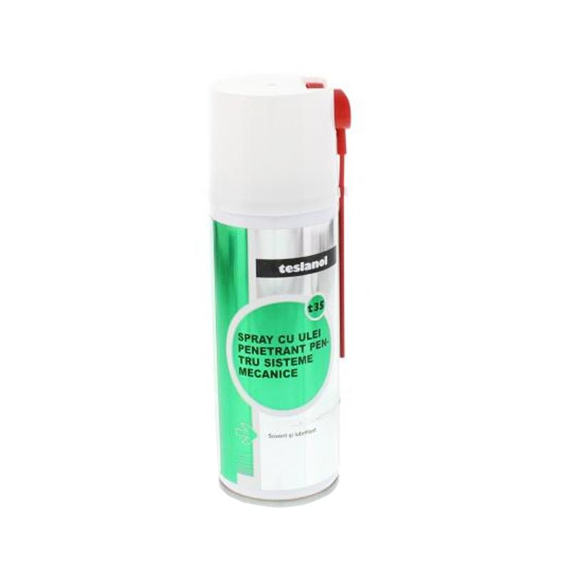 Spray cu ulei pentru sisteme mecanice Teslanol, 200 ml 2021 shopu.ro