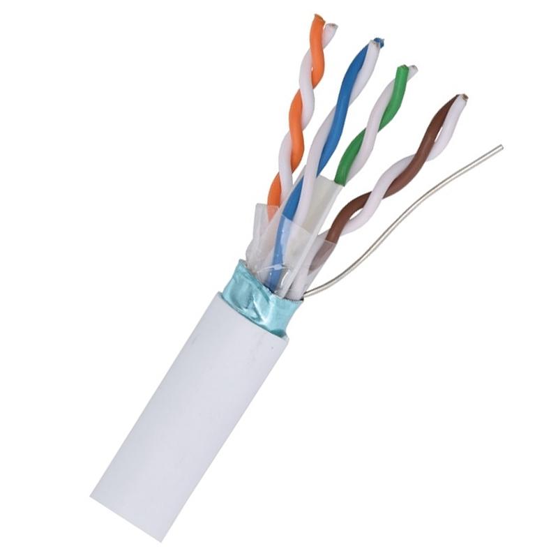 Cablu STP CAT5E Genway, cupru masiv, 50 m 2021 shopu.ro