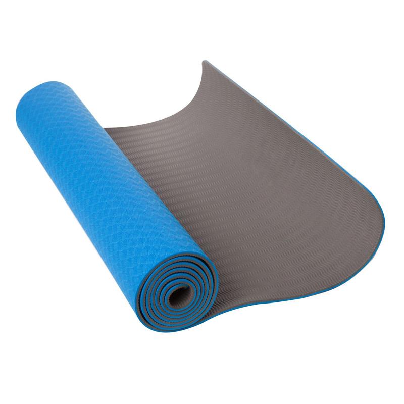 Saltea Yoga Maxtar, dimensiune 183 x 61 x 0.6 cm, spuma TPE, albastru