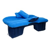 Saltea auto gonflabila Travel Bed, 138 x 85 x 45 cm, suporta 600 kg, Albastru