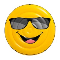 Saltea gonflabila Cool Guy Intex, 173 x 27 cm, model smiley face
