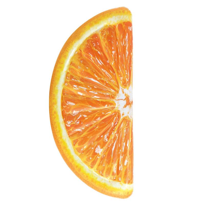 Saltea gonflabila Intex, 178 x 85 cm, model felie portocala 2021 shopu.ro