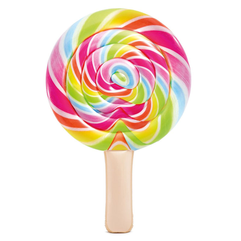 Saltea gonflabila Lollipop Intex, 208 x 135 cm, Multicolor 2021 shopu.ro