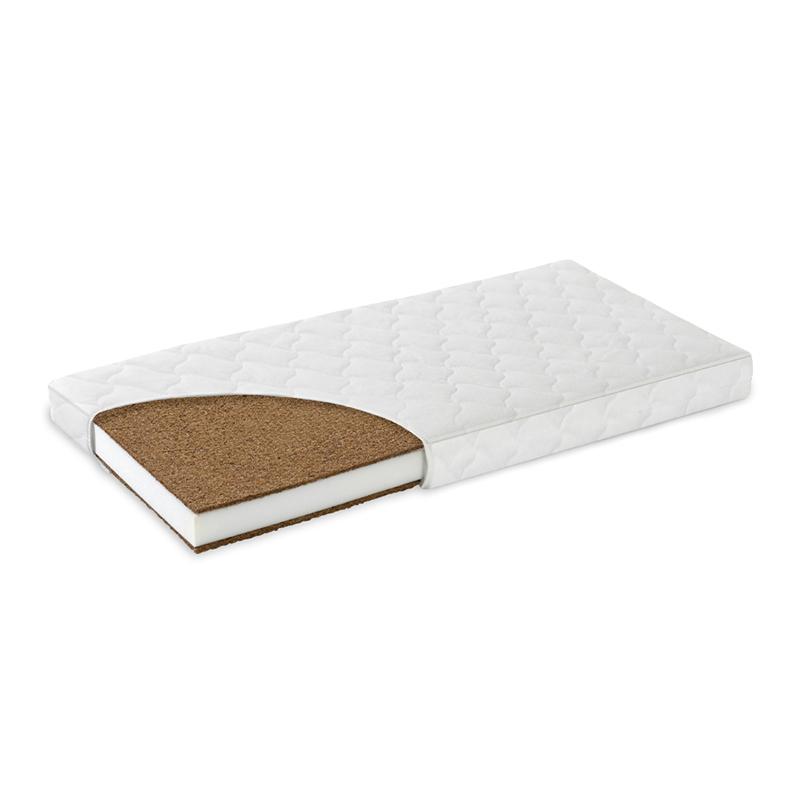 Saltea Confort II MyKids, 105 x 70 x 10 cm, fibre cocos, husa microfibra, Alb 2021 shopu.ro