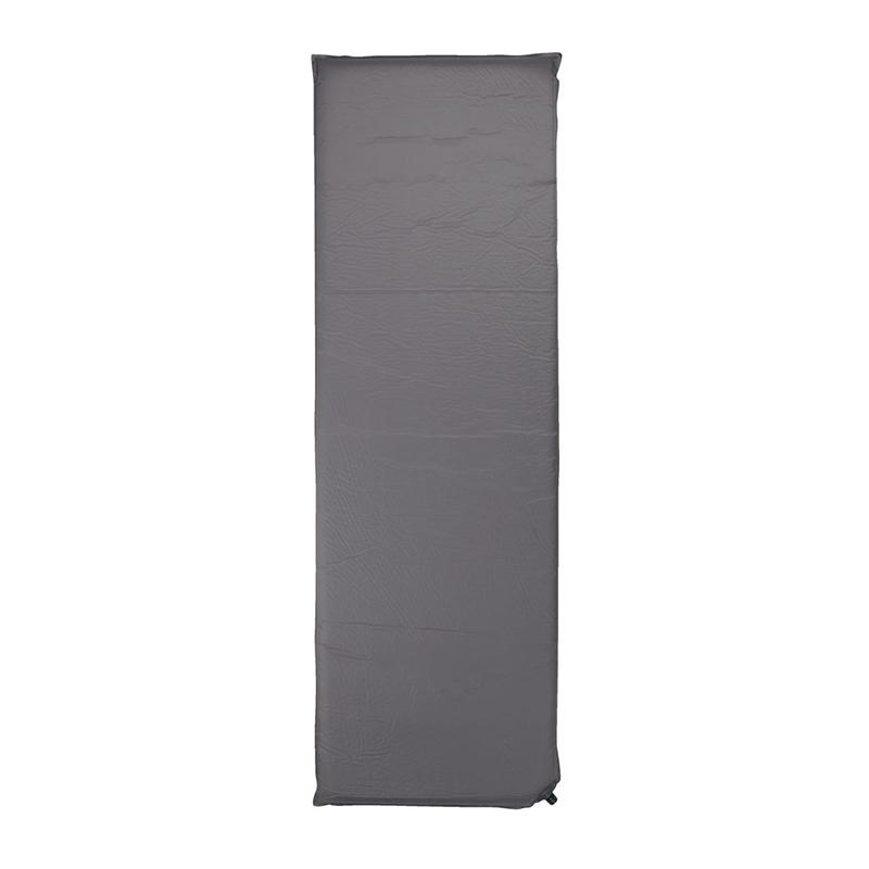 Saltea autogonflabila, 60 x 190 x 5 cm, spuma poliuretanica, husa inclusa, Gri 2021 shopu.ro