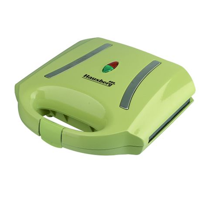 Sandwich Maker Hausberg, 800 W, LED, Verde