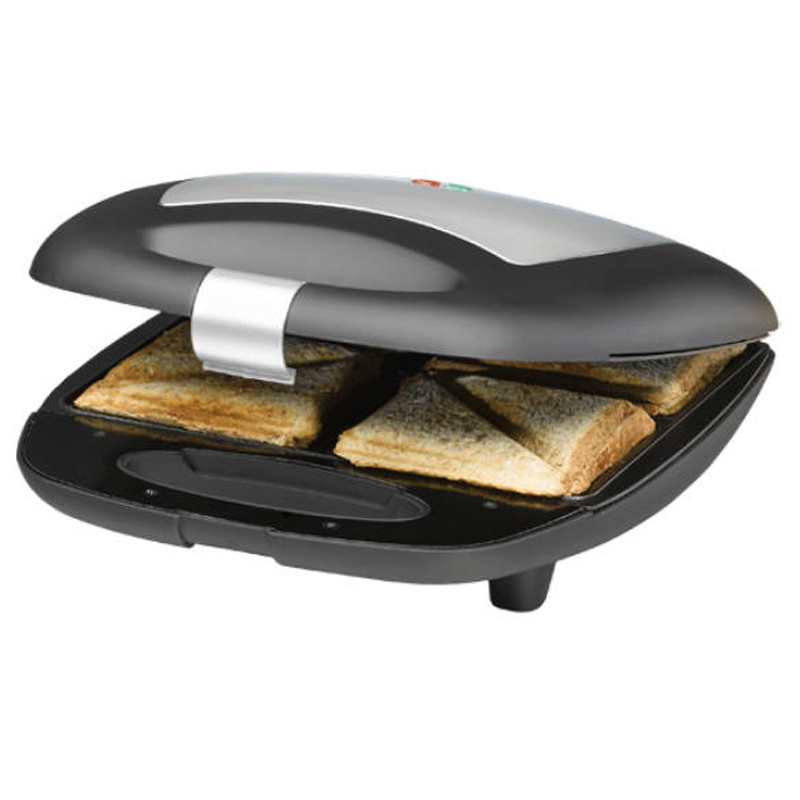 Sandwich Maker Rommelsbacher, 1400 W, LED, Negru/Argintiu 2021 shopu.ro