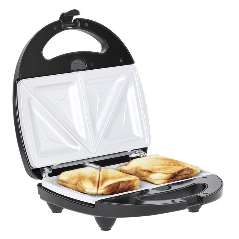 Sandwich Maker ceramic 3 in 1 Teesa, 800 W, placi interschimbabile