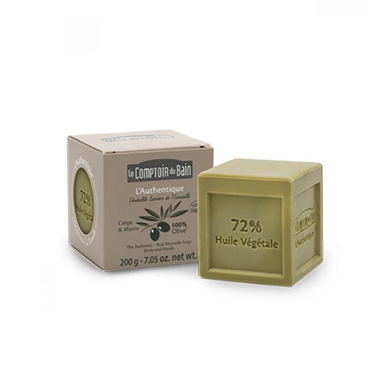 Sapun cub de Marsilia Le Comptoir du Bain, 200 g, masline 2021 shopu.ro
