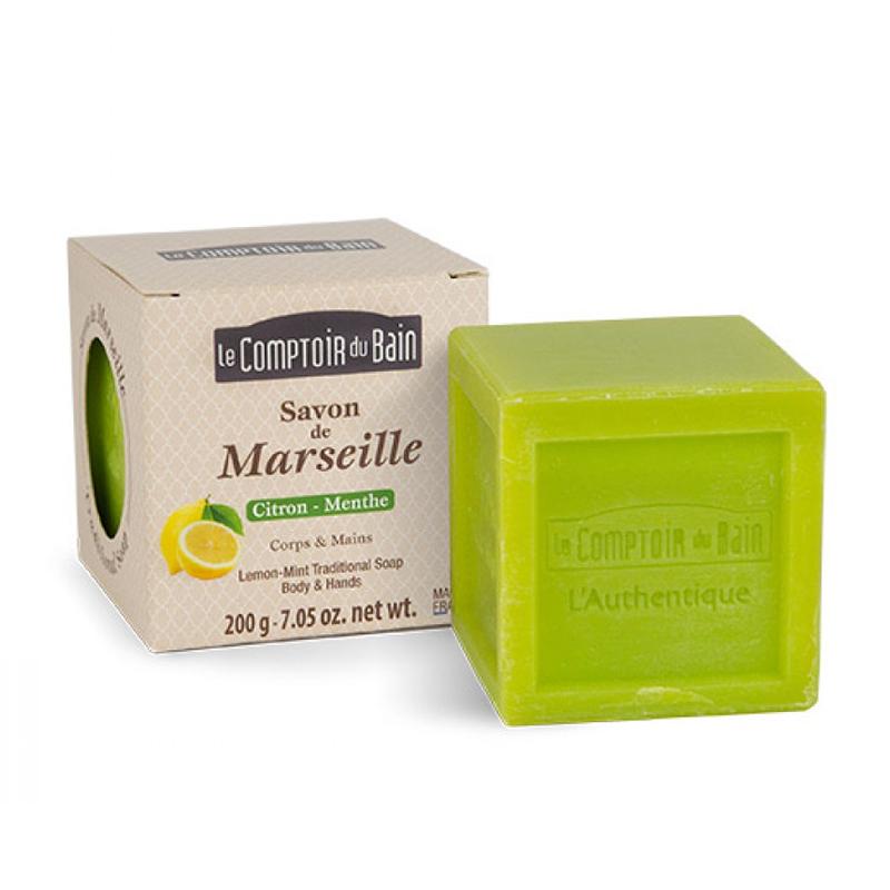 Sapun surgras de Marsilia Le Comptoir du Bain, 200 g, lamaie/menta 2021 shopu.ro