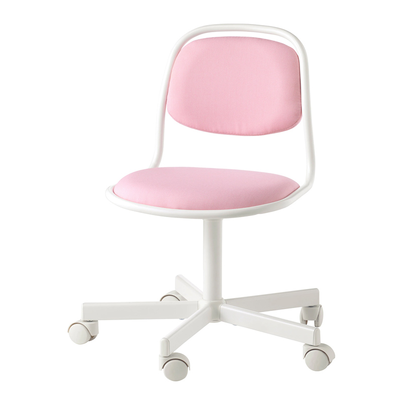 Scaun birou pentru copii, inaltime 83 cm, suporta maxim 110 kg, Roz/Alb 2021 shopu.ro