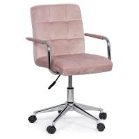 Scaun birou pentru copii, inaltime 86 cm, maxim 80 kg, tapiterie catifea, Roz